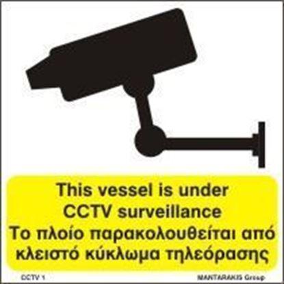 Picture of THIS VESSEL IS UNDER CCTV SURVEILLANCE 15x15
