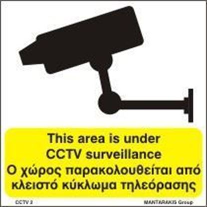Picture of THIS AREA IS UNDER CCTV SURVEILLANCE  15x15