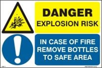 Picture of DANGER EXPLOSION RISK - IN CASE OF FIRE REMOVE BOTTLE 20x30