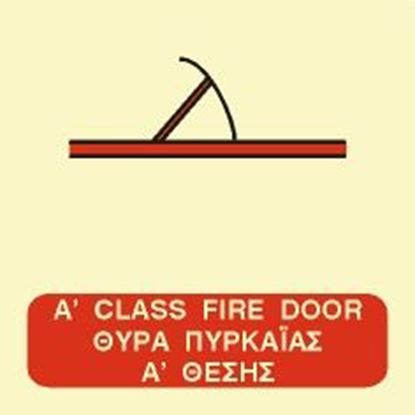 Picture of A CLASS FIRE HINGED DOOR SIGN 15x15