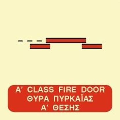 Picture of A CLASS SLIDING FIRE DOOR SIGN 15x15
