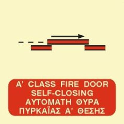 Picture of A CLASS SELF-CLOSING SLIDING FIRE DOOR SIGN 15x15
