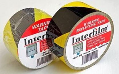 Picture of PVC HAZARD TAPE 50MMX20MTR BLACK-YELLOW
