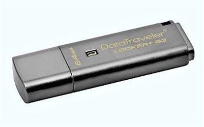 Picture of KINGSTON USB Stick Data Traveler Locker+G3 DTLPG3/64GB, USB 3.0, Silver