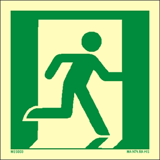 Picture of Emergency Exit (right hand) 15 x 15