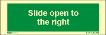 Εικόνα της Text Slide Open to the Right 5 x 15
