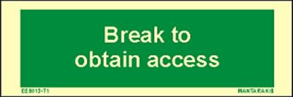 Εικόνα της Text Break to Obtain Access 5 x 15
