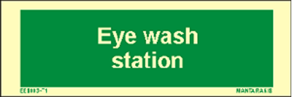 Picture of Text Eye Wash Station 5 x 15