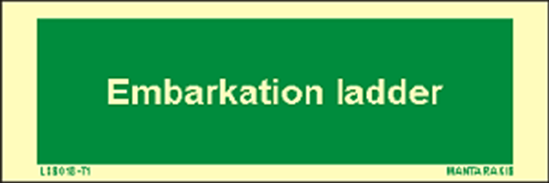 Picture of Text Embarkation Ladder 5 x 15
