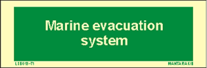Picture of Text Marine Evacuation System 5 x 15
