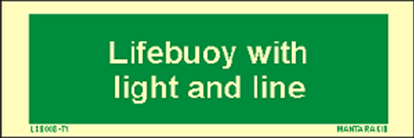 Picture of Text Lifebouy with Light and Line 5 x 15