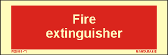 Picture of Text Fire Extinguisher 5 x 15