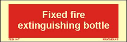 Εικόνα της Text Fixed Fire Extinguishing Bottle 5 x 15