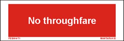 Εικόνα της Text no Throughfare 5 x 15