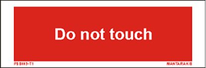 Picture of Text do not touch 5 x 15