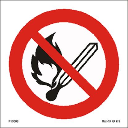 Εικόνα της No open flame : Fire, open ignition source and smoking prohibited 15 x 15