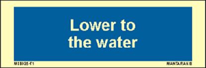 Εικόνα της Text Lower to the water 5 x 15