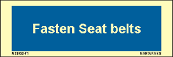 Picture of Text fasten seat belts 5 x 15