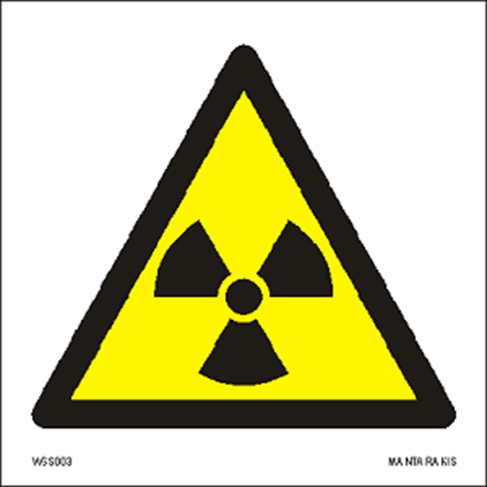 Εικόνα από Warning  Radioactive material or ionizing radiation 15 x 15