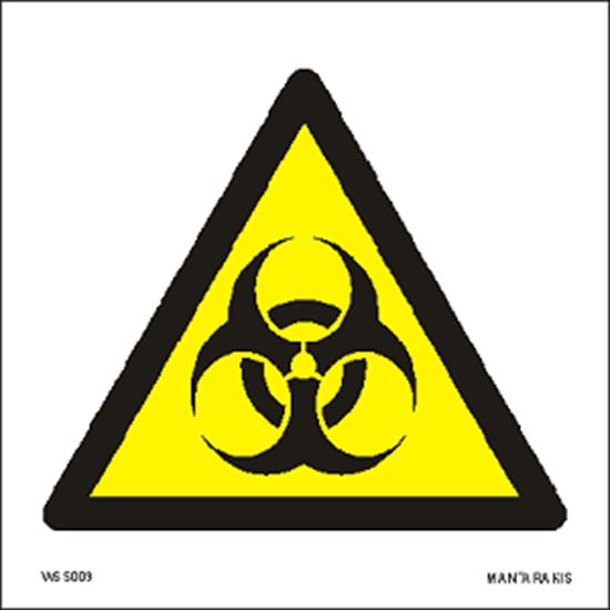 Picture of Warning Biological hazard 15 x 15