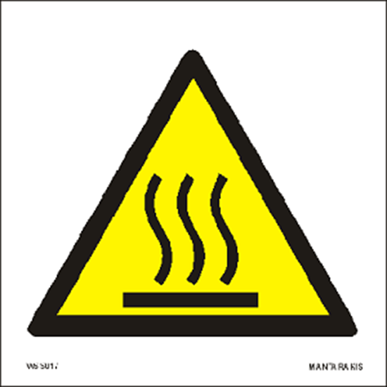 Picture of Warning  Hot surface 15 x 15