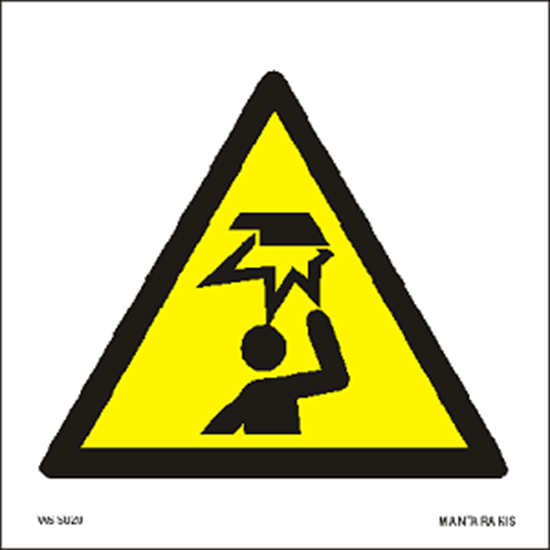Picture of Warning Overhead obstacle 15 x 15