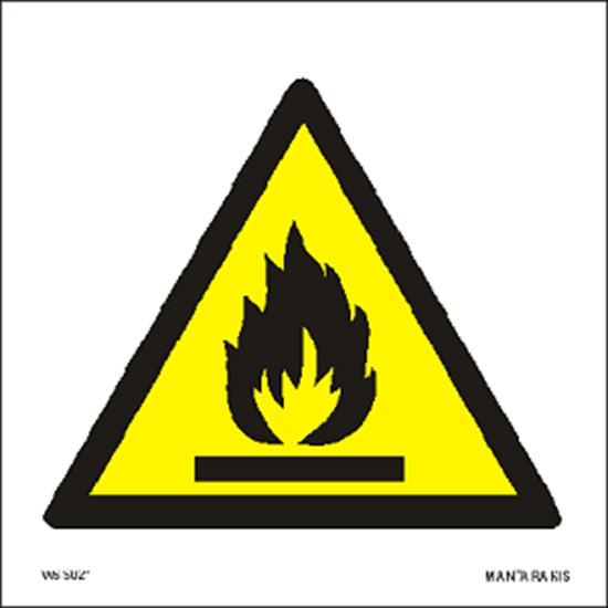 Picture of Warning Flammable material 15 x 15