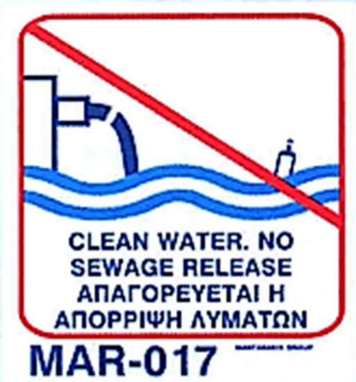 Picture of CLEAN WATER. NO SEWAGE RELEASE 20X20