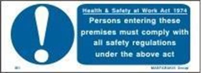 Picture of HEALTH & SAFETY AT WORK ACT 1974 7.50X20