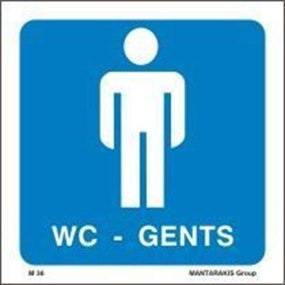 Εικόνα της W.C. GENTS SIGN 15X15
