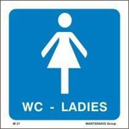 Εικόνα της W.C. LADIES SIGN 15X15