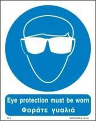 Picture of EYE PROTECTION MUST BE WORN SIGN 25X20
