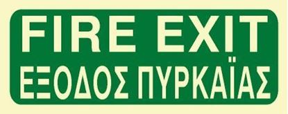 Picture of FIRE EXIT SIGN 12X30