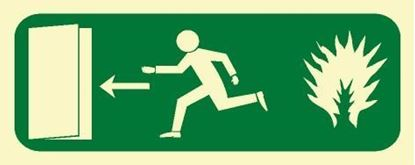 Picture of FIRE EXIT LEFT SIGN 12X30