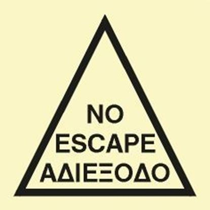 Picture of NO ESCAPE SIGN 15X15