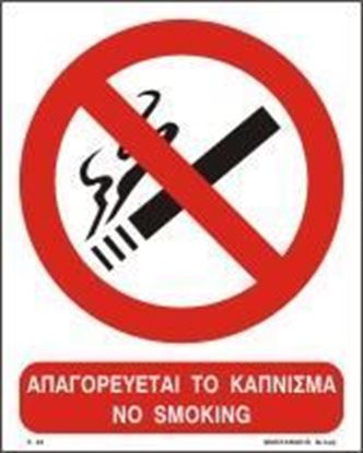 Picture of NO SMOKING SIGN 25x20