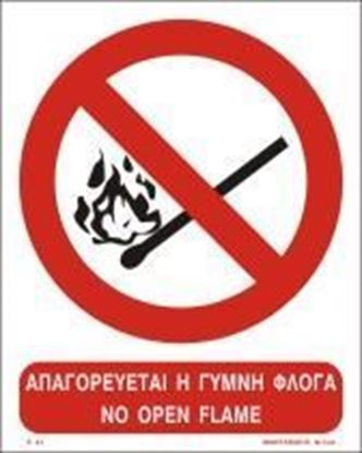 Picture of NO OPEN FLAME SIGN    25x20