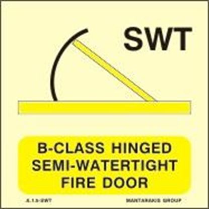 Εικόνα της B-CLASS HINGED SEMI-WATERTIGHT FIRE DOOR SIGN 15x15