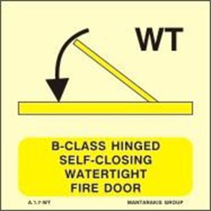 Εικόνα της B-CLASS HINGED SELF-CLOSING WATERTIGHT FIRE DOOR SIGN 15x15