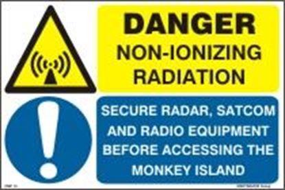 Εικόνα της DANGER NON-IONIZING RADIATION 20X30