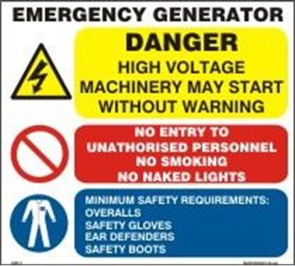 Εικόνα της EMERGENCY GENERATOR SIGN 30x28