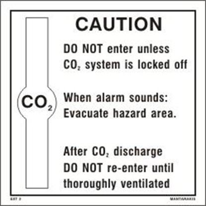 Picture of CO2 CAUTION SIGN 20x20