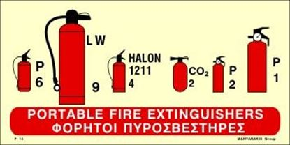 Picture of PORTABLE FIRE EXTINGUISHERS SIGN 15x30
