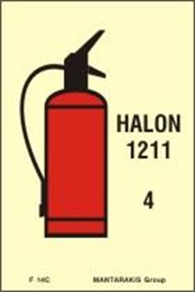 Picture of FIRE EXTINGUISHER HALON 1211 SIGN 15X10