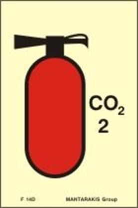 Picture of FIRE EXTINGUISHER CO2 SIGN 15X10