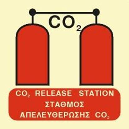 Εικόνα της CO2 RELEASE STATION SIGN 15x15
