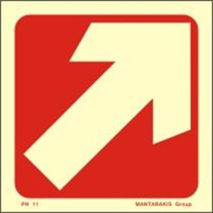 Picture of ARROW DIAGONAL SIGN  7,5x7,5  RED