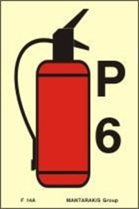 Picture of FIRE EXTINGUISHER P6 SIGN 15X10