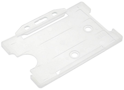 Picture of Clear open faced ID card holder - Landscape