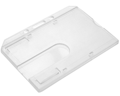 Picture of Clear Enclosed ID Card Holder - Landscape